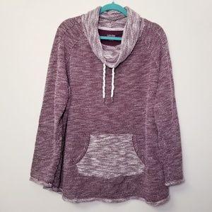 Calvin Klein 3X Purple/Gray Cowl Neck Sweater